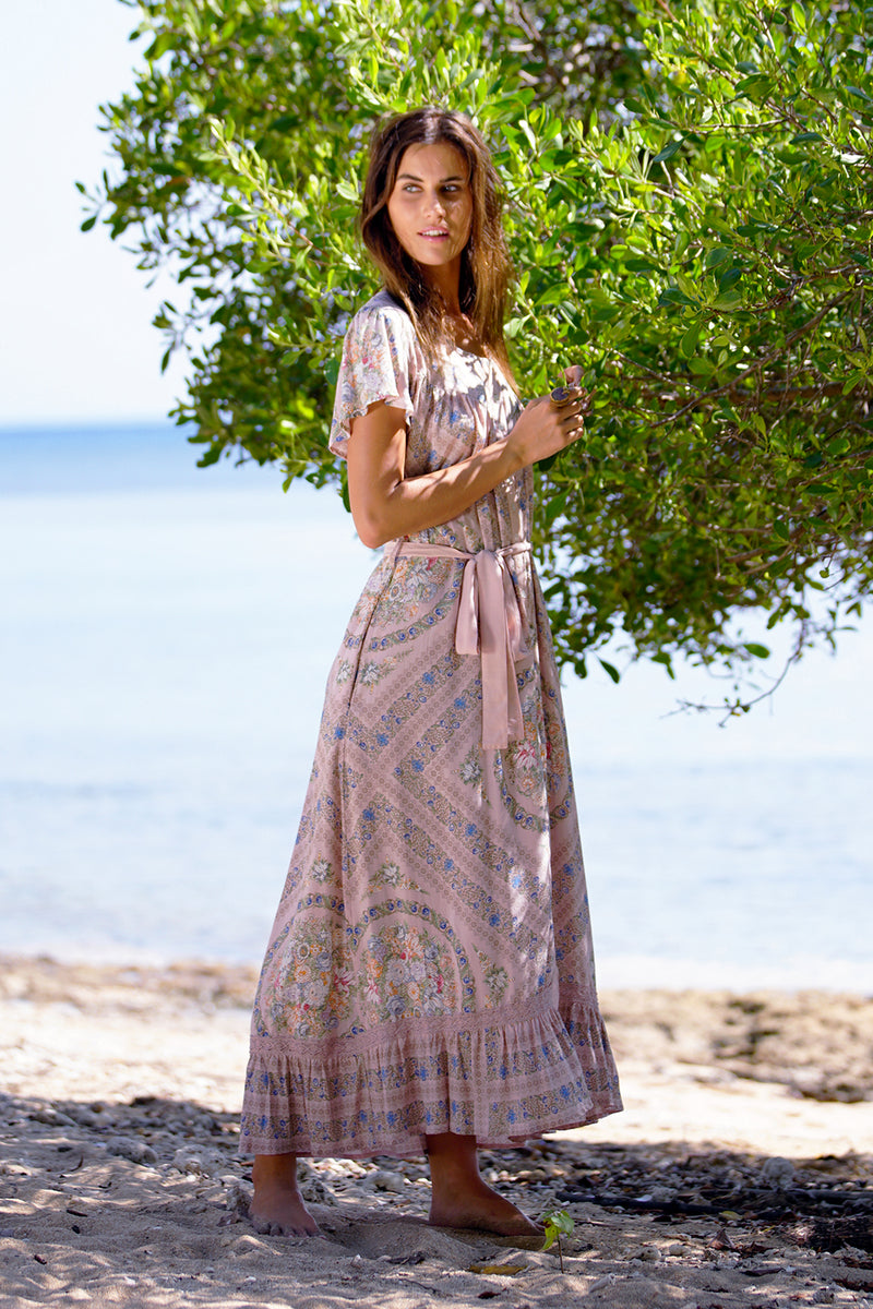 Isabella Maxi Dress - Blush - Tulle and Batiste