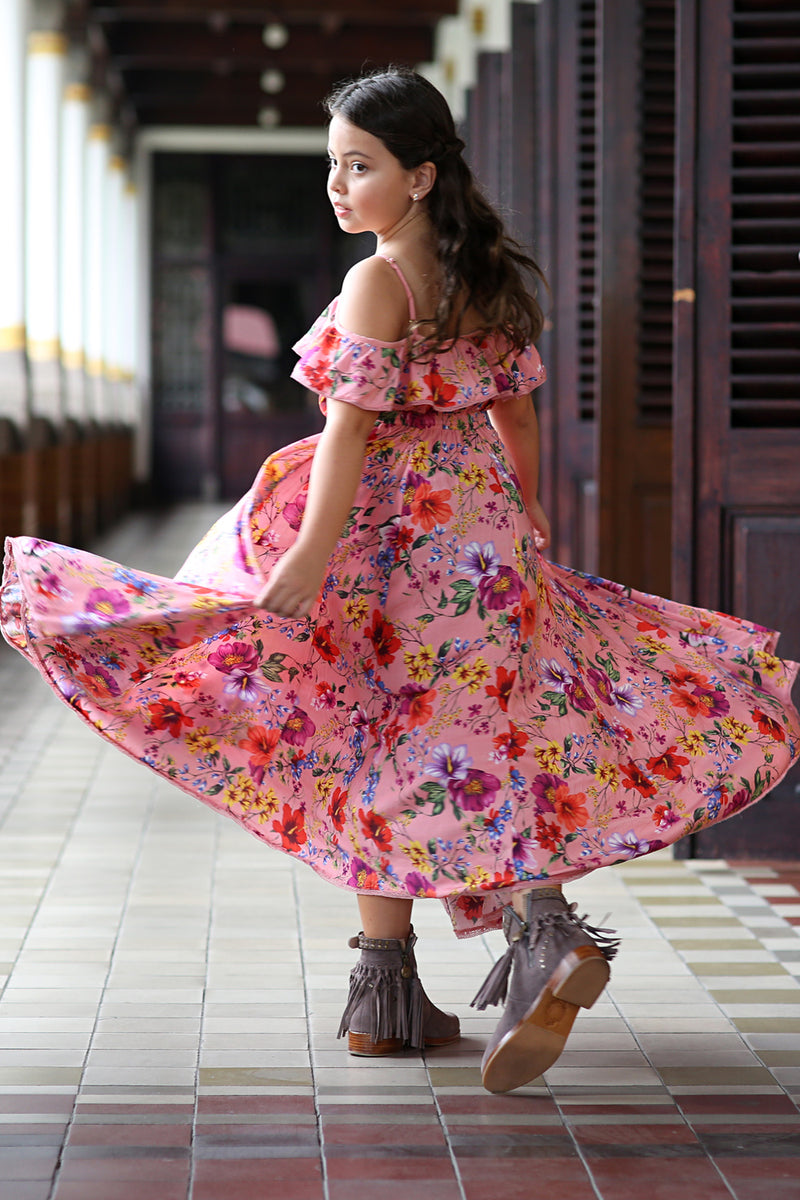 Ivy Dress - Pink Blossom - Tulle and Batiste