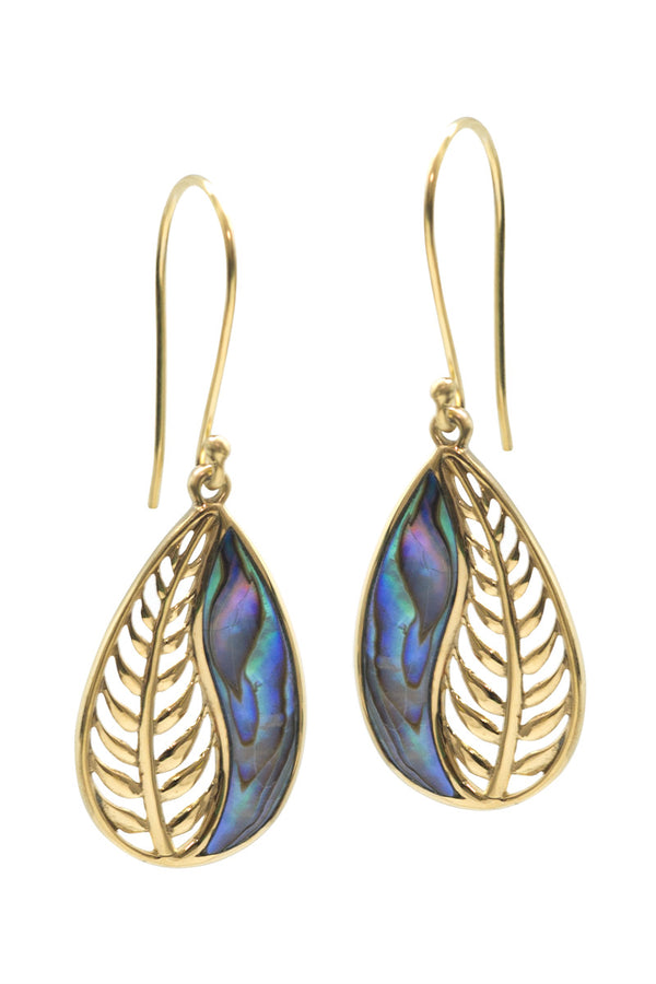 Leaf Me Alone Earrings - Ocean - Tulle and Batiste