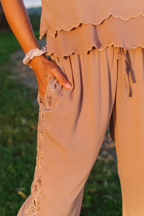 Lotus Flare Pants - Tulle and Batiste