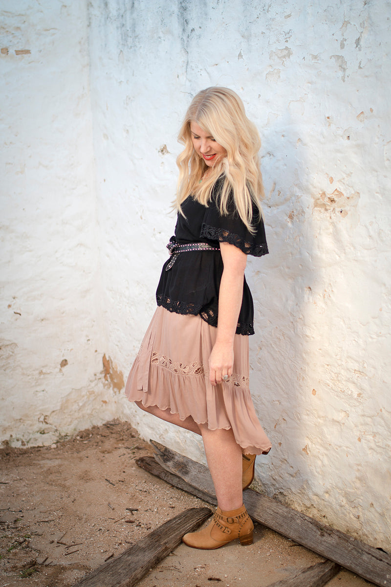 Lotus Midi Skirt - Tulle and Batiste
