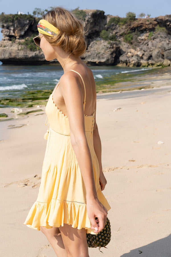 Marbella Mini Dress - Golden Haze - Tulle and Batiste
