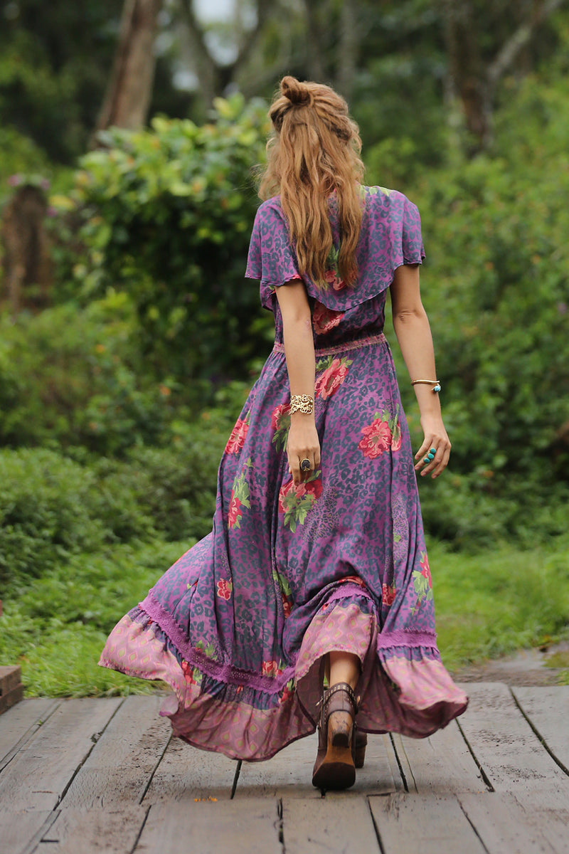 Maya Cape Dress - Purple Potion - Tulle and Batiste