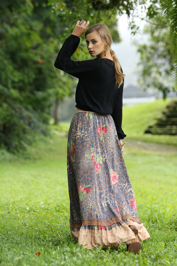 Maya Maxi Skirt - Pecan - Tulle and Batiste