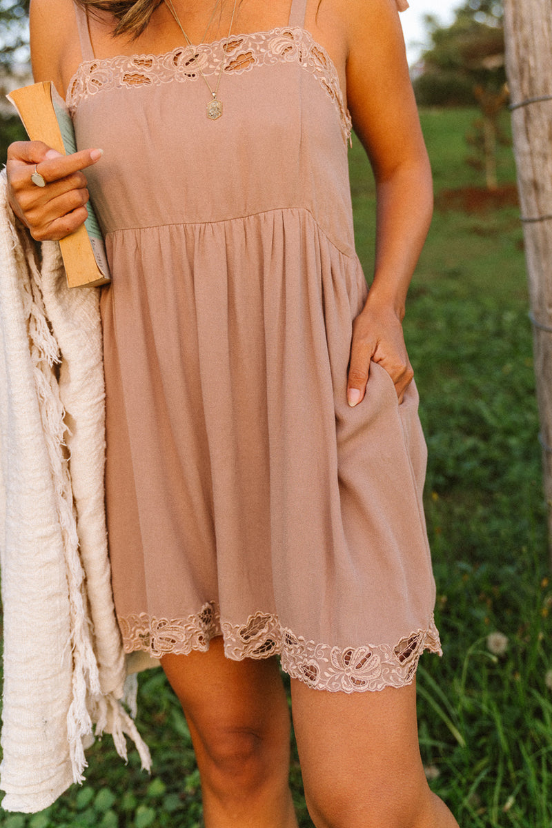 Peony Mini Dress - Tulle and Batiste