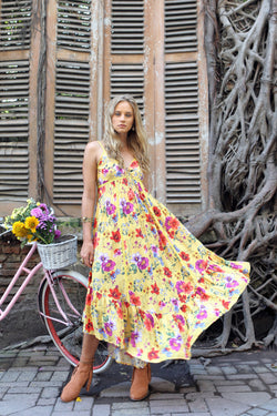 Prairie Midi Slip Dress - Dandelion - Tulle and Batiste