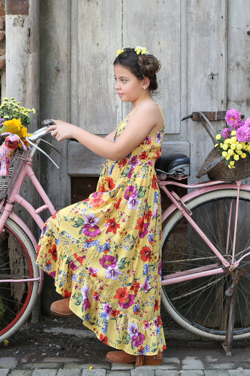 Quinnie Dress - Dandelion - Tulle and Batiste