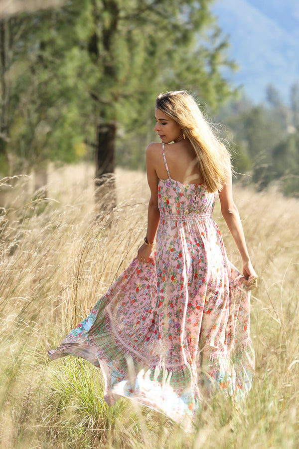 Ravennah Maxi Dress - Lotus - Tulle and Batiste