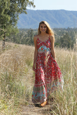 3fc76a505f9f Ravennah Maxi Dress - Rococo Red – Tulle and Batiste