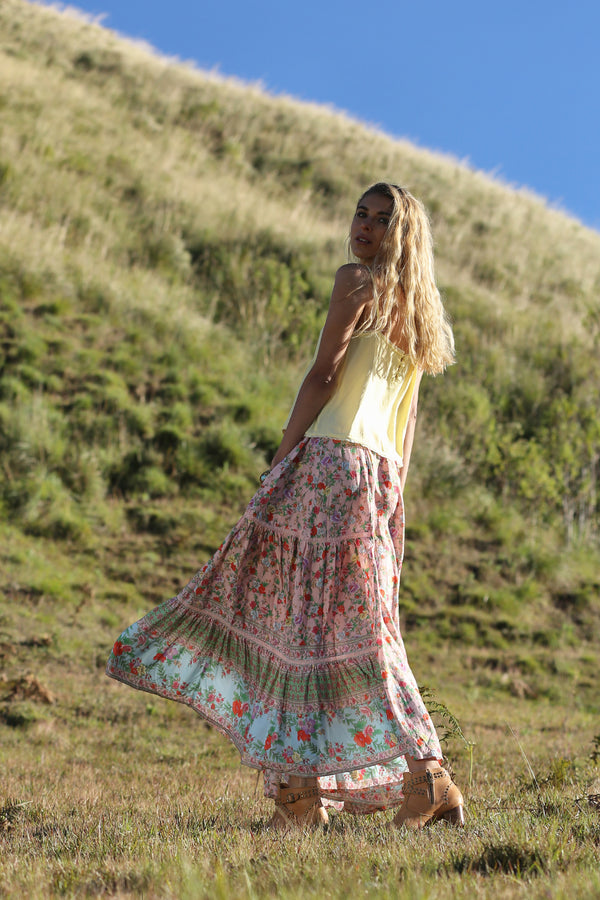 Ravennah Maxi Skirt - Lotus - Tulle and Batiste