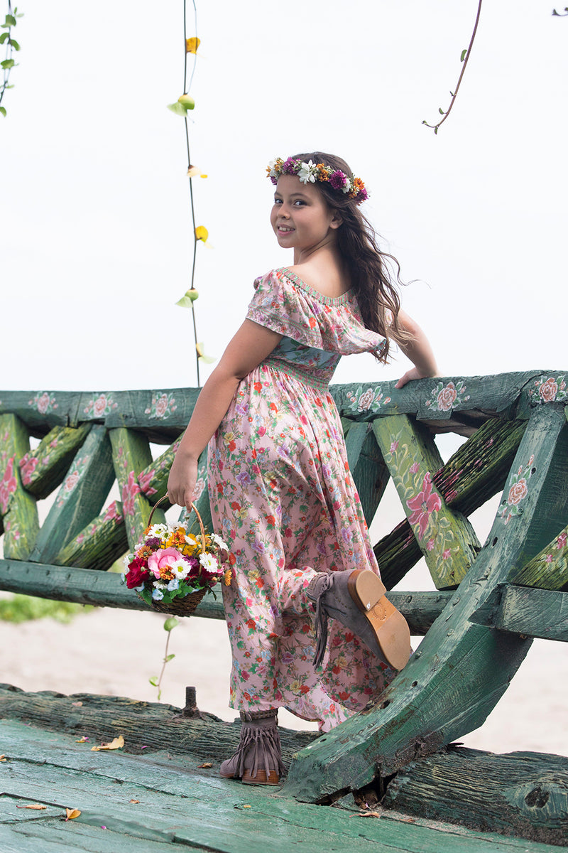 Revannah Dress - Lotus - Tulle and Batiste