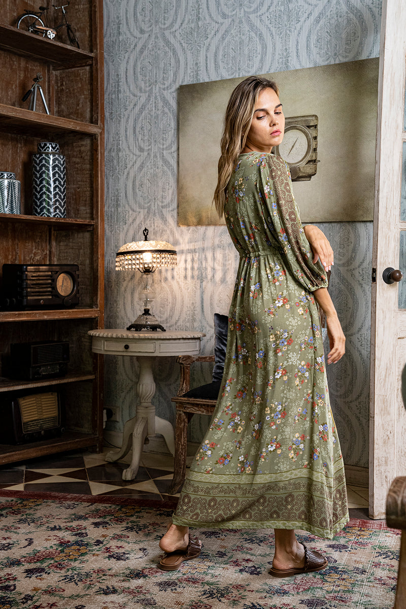 Roseanne Boho Dress - Olive - Daydreamer by Tulle and Batiste