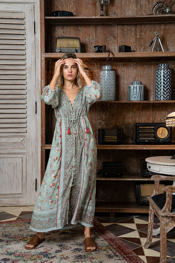 Roseanne Boho Dress - Sage - Daydreamer by Tulle and Batiste