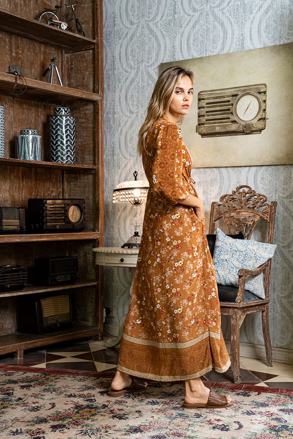 Roseanne Boho Dress - Terracotta - Daydreamer by Tulle and Batiste