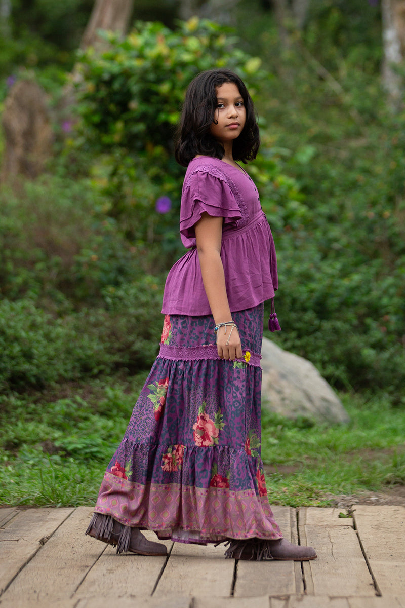 Sabrina Blouse - Purple Potion - Tulle and Batiste