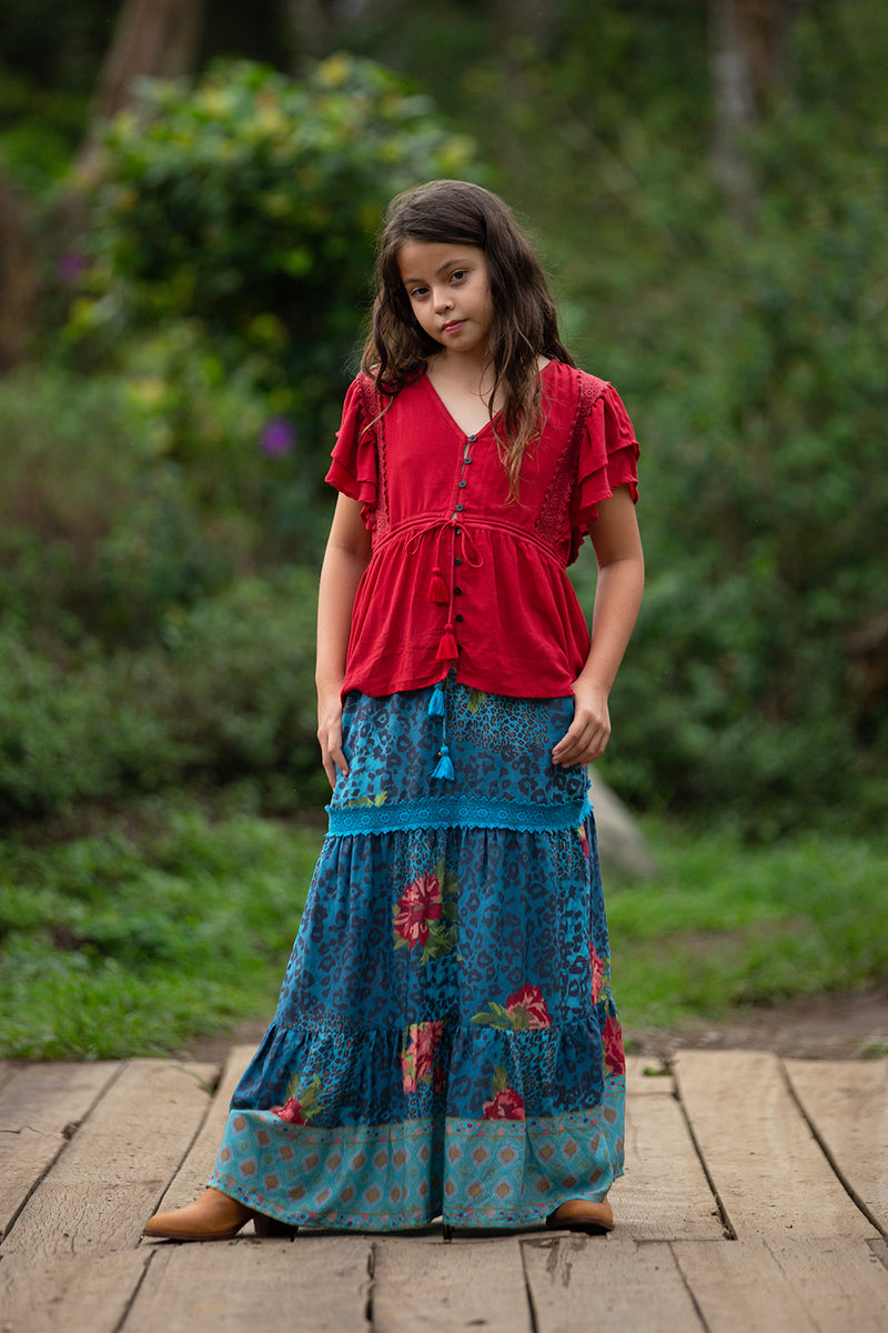 Sabrina Skirt - Blue Moon - Tulle and Batiste