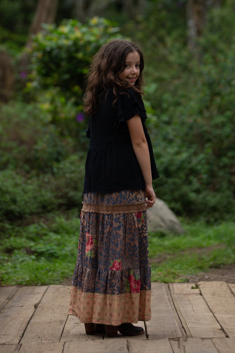 Sabrina Skirt - Pecan - Tulle and Batiste