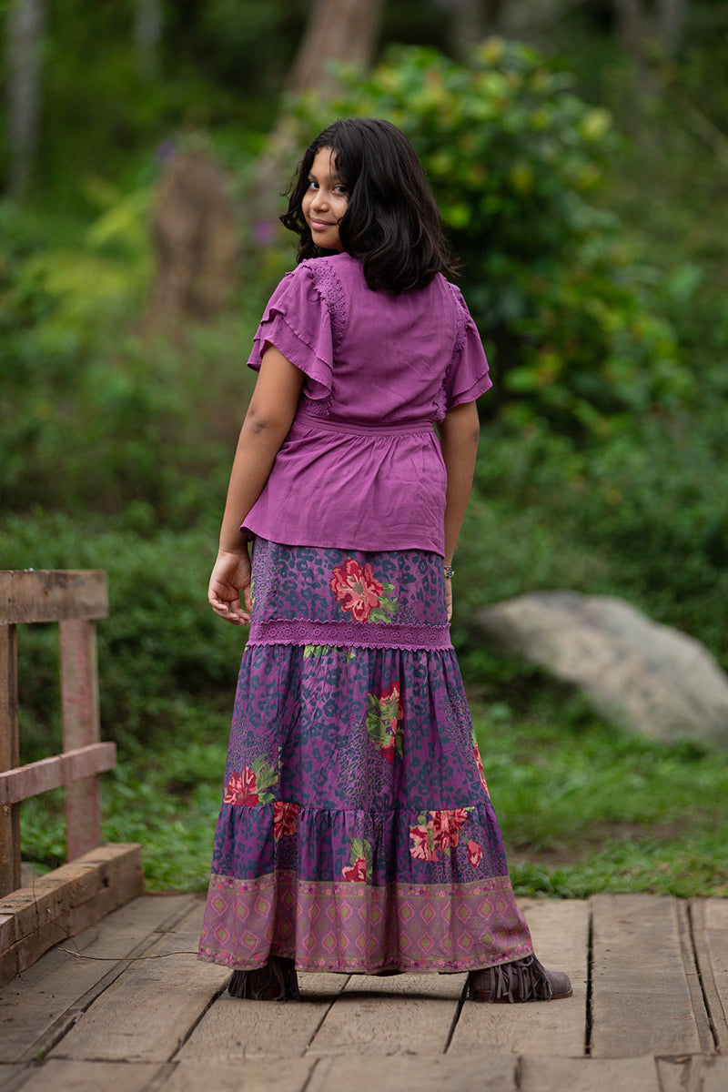 Sabrina Skirt - Purple Potion - Tulle and Batiste