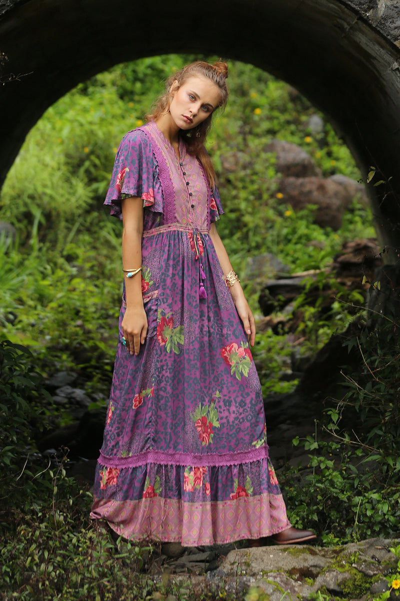 Sahara Maxi Dress - Purple Potion - Tulle and Batiste