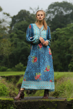 Sahara Midi Dress - Blue Moon - Tulle and Batiste