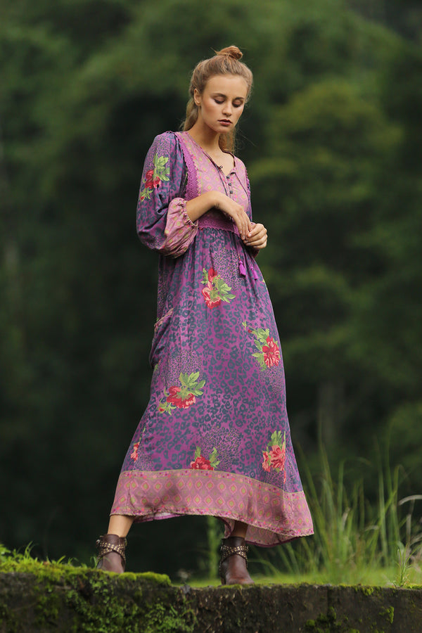 Sahara Midi Dress - Purple Potion - Tulle and Batiste
