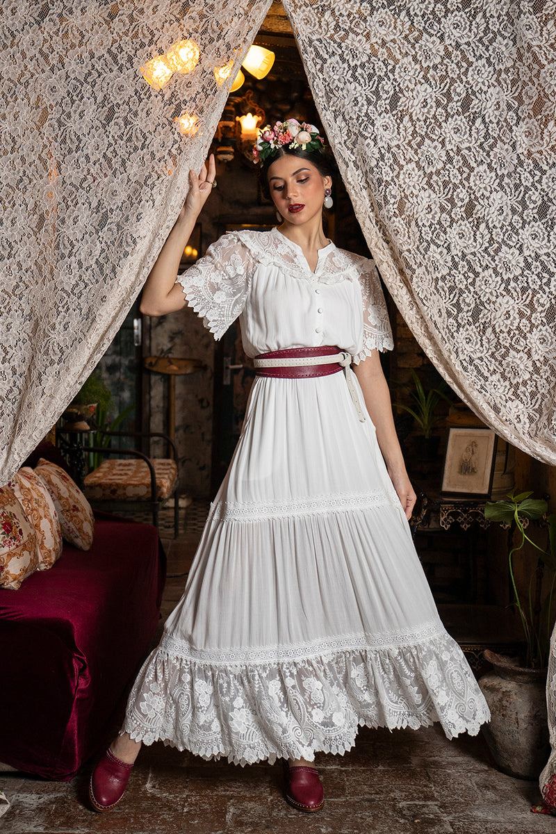 Senorita Maxi Dress - Snow White - Senorita by Tulle and Batiste