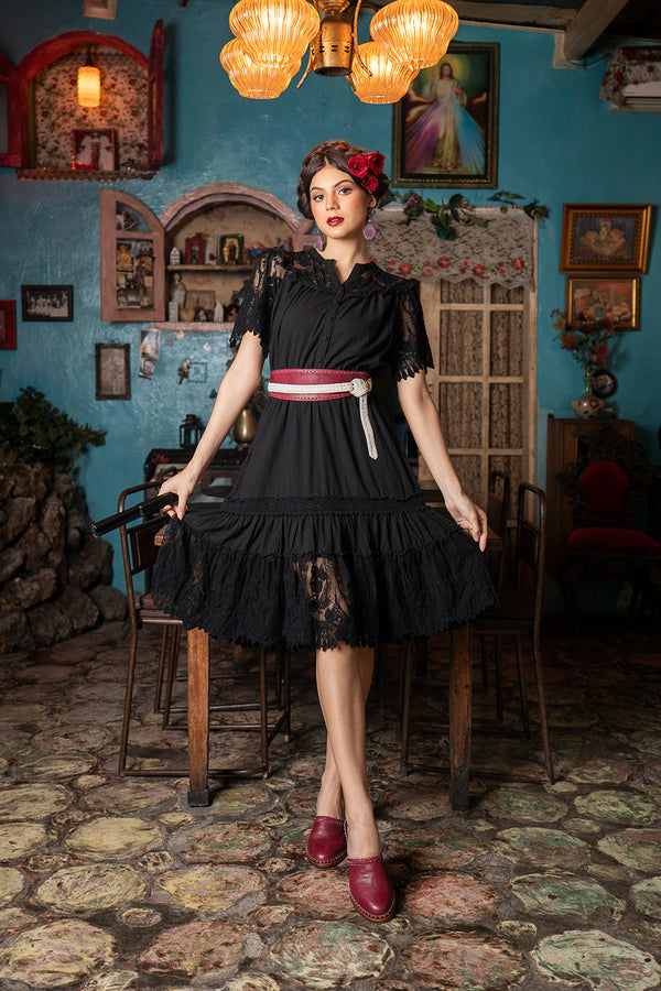 Senorita Playdress - Moonless Black - Senorita by Tulle and Batiste