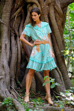 Sophia Playdress - Turquoise - Tulle and Batiste