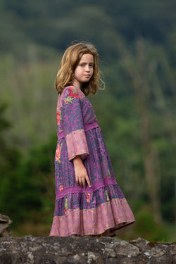 Tabitha Dress - Purple Potion - Tulle and Batiste