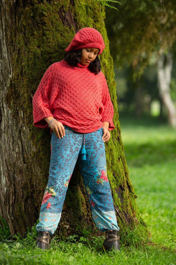 Tabitha Turtleneck Sweater - Scarlet Sage - Tulle and Batiste