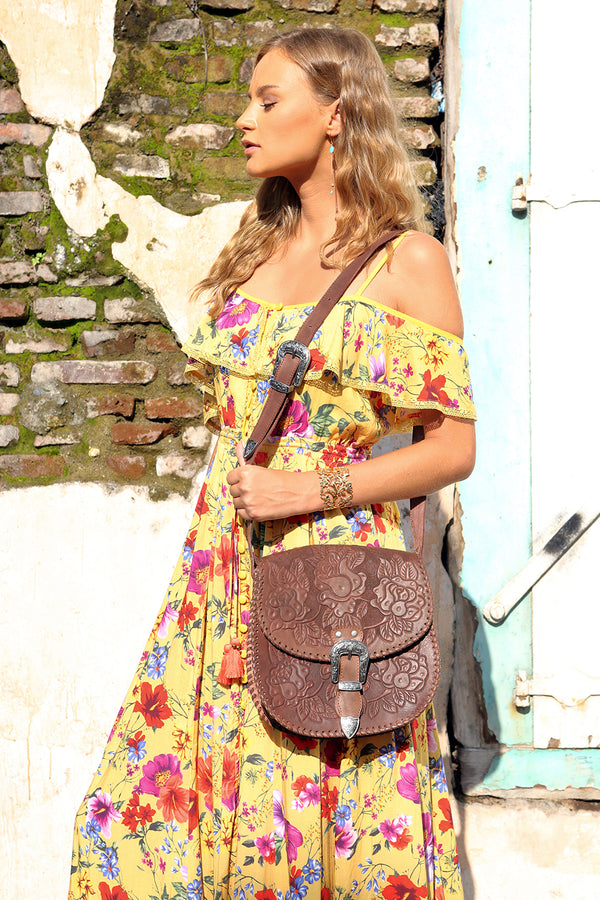 The Gypsy Queen Bag - Antique Brown - Tulle and Batiste