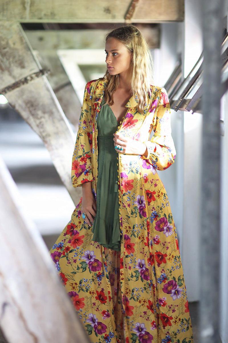 The Gypsy Queen Maxi Dress - Dandelion - Tulle and Batiste