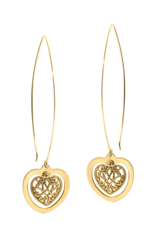 The Love Heart Earrings - Tulle and Batiste