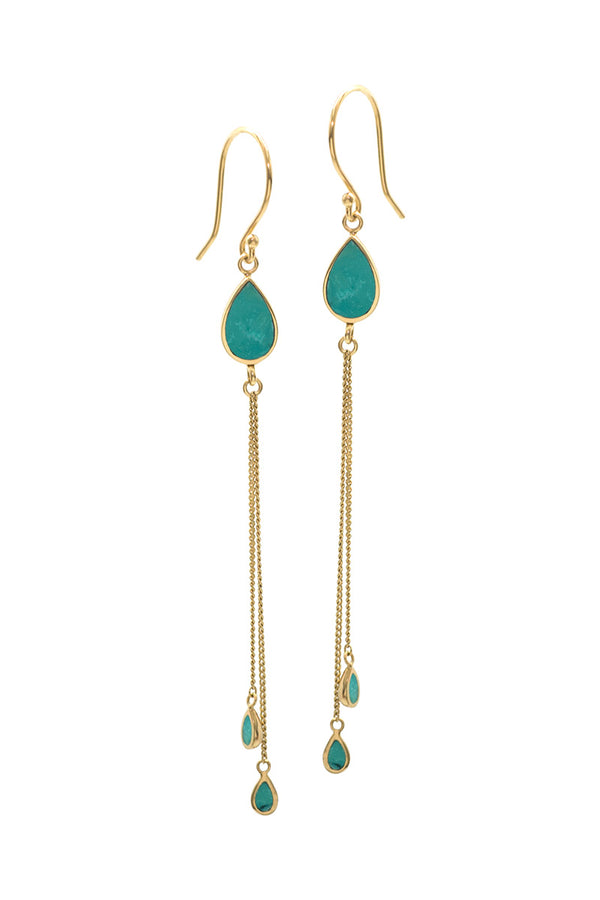 The Teardrops Earrings - Turquoise - Tulle and Batiste