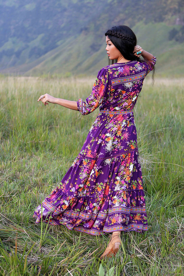 Amara Maxi Dress - Plum - Tulle and Batiste