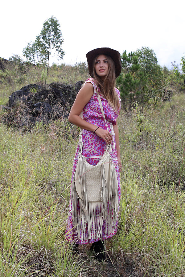 Hunter Tassel Bag - Tulle and Batiste
