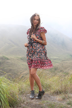 Lily Boho Mini Dress - Tulle and Batiste