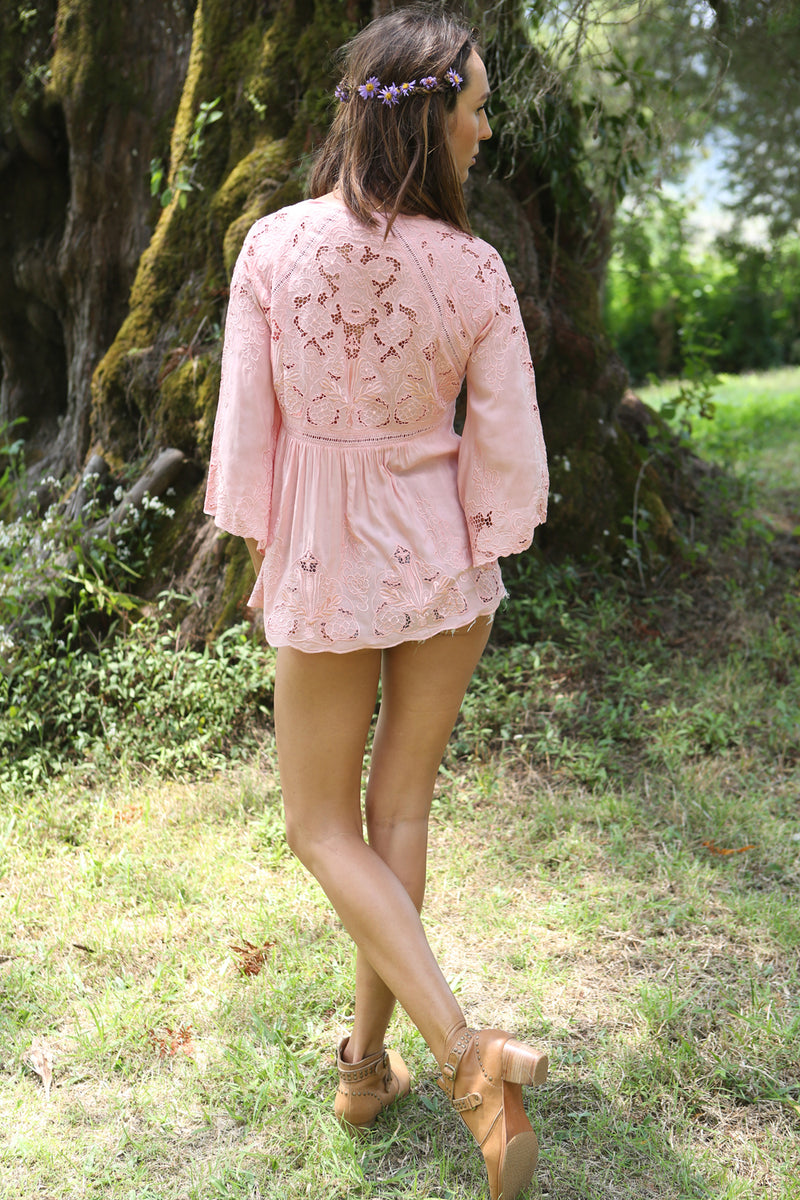 Willow Embroidery Blouse - Tulle and Batiste