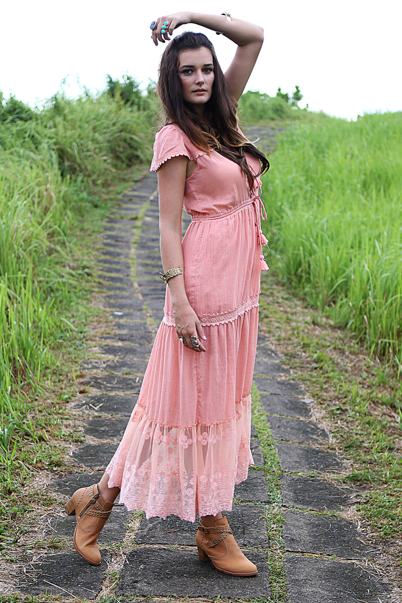 Willow Maxi Dress - Tulle and Batiste