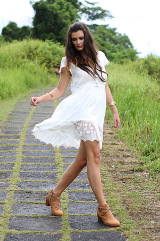 Willow Mini Dress - Tulle and Batiste