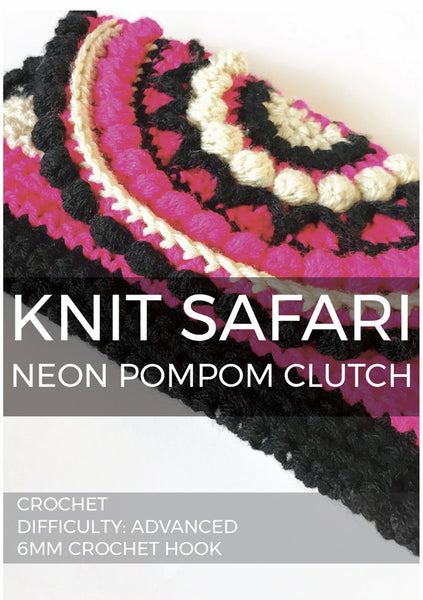 Neon Pompom Clutch - Digital Download