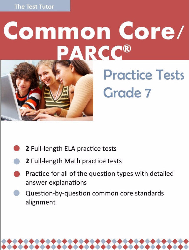 Practice Tests for the PARCC® - Grade 7 (ebook)