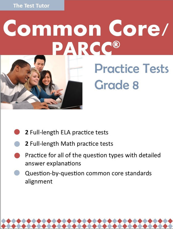Practice Tests for the PARCC® - Grade 8 (ebook)