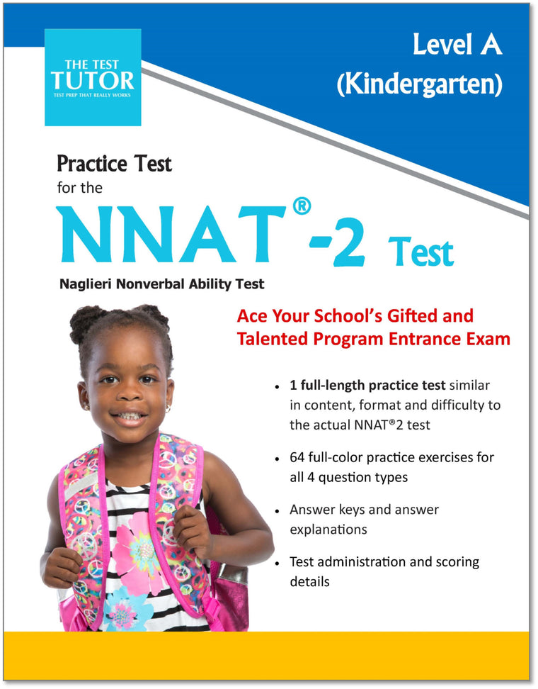 Practice Test for the NNAT 2 - Kindergarten (ebook)