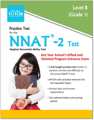 Practice Test for the NNAT 2 - First Grade (eBook)