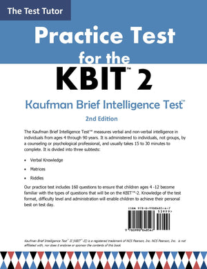 Practice Test for the KBIT Back Cover