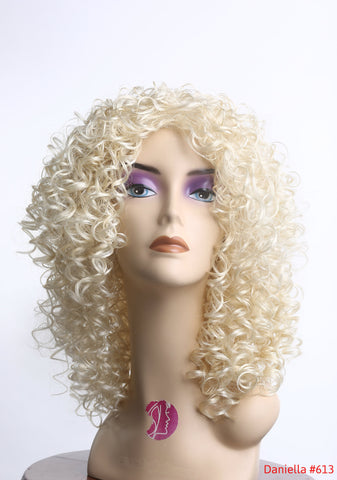Cheap high quality wig curly full light blonde