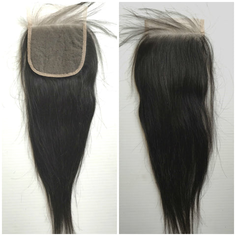 "12""-22"" Clear or HD Top Closure Silky Straight Premium Virgin Remy Hair"