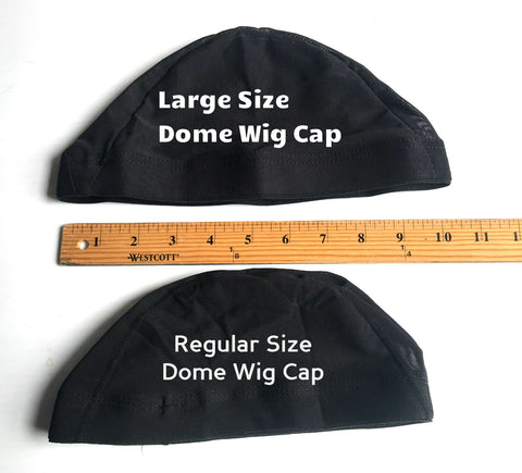 Dome Wig Cap Black (Regular or Large Size)
