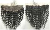 "Clear or HD Lace frontal Closure 12"" 14"" 16"" 18"" - Deep Wave (Ear to Ear 13"" x 4"")"